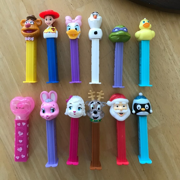 Group of 12 PEZ dispensers